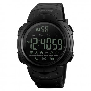 Годинник 1301 з bluetooth Black Skmei