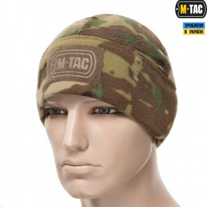 Шапка з логотипом Watch Cap Elite фліс/сітка Windblock 380G Multicam M-TAC