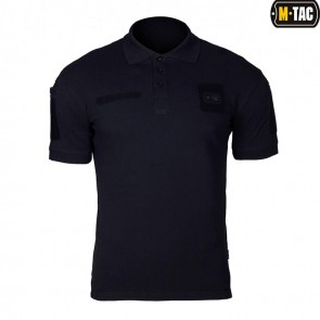 Футболка-поло Elite Tactical 100% бавовна Dark Navy Blue M-TAC