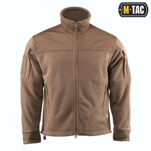Куртка флісова Hexagon Alpha Microfleece Jacket Coyote M-TAC