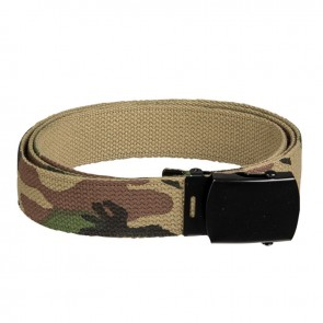 Ремінь брючний US Cotton Web Belt Woodland Mil-Tec