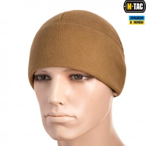 Шапка флісова/сітка Watch Cap Windblock 295G койот M-TAC