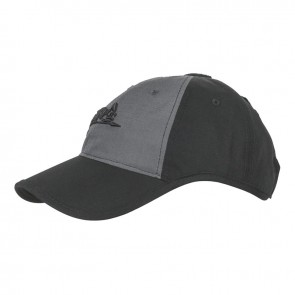 Бейсболка LOGO PolyCotton R/S чорна/Shadow Grey HELIKON