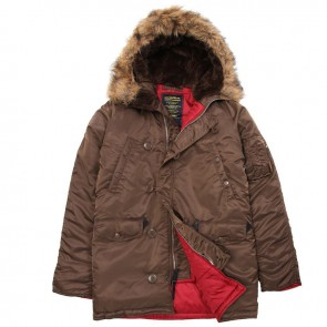 Куртка Slim Fit N-3B Brown/Red Alpha Industries