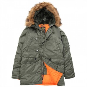 Куртка Slim Fit N-3B Sage\Orange Alpha Industries