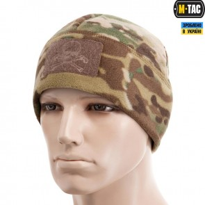 Шапка Watch Cap Elite фліс/сітка Pirate Skull Windblock 380G Multicam M-TAC