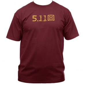 Футболка SKULL CALIBER T-SHIRT BURGUNDY 5.11Tactical