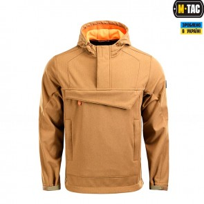 Анорак Fighter Soft Shell Dark Coyote/Orange M-TAC