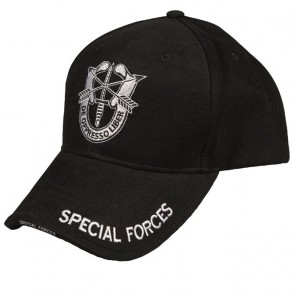 Бейсболка SPECIAL FORCES чорна Mil-Tec