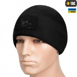 Шапка Watch Cap Elite фліс/сітка Pirate Skull Windblock 380G чорна M-TAC