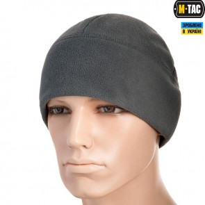Шапка флісова Watch Cap Elite фліс/сітка Windblock 380G сіра M-TAC