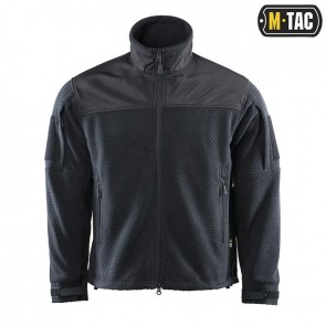 Куртка флисовая Hexagon Alpha Microfleece Jacket Black M-TAC