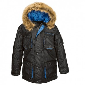 Куртка Glacier Parka Black/Pacific Blue Alpha Industries