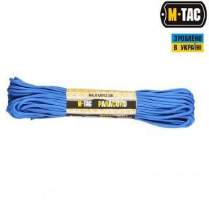 Паракорд 550 type III Electric Blue 30м M-TAC