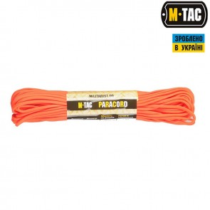 Паракорд 550 type III Safety Orange 30м M-TAC