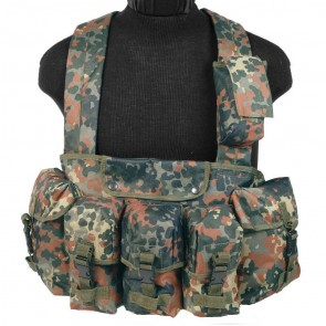 Разгрузочная система Chest Rig Flecktarn Mil-Tec