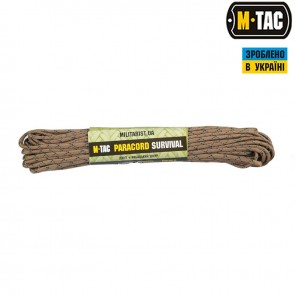 Паракорд Survival Coyote Camo Diamond 15м M-TAC