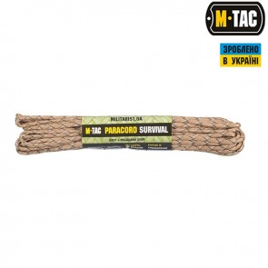 Паракорд Survival Tiger Stripe 15м M-TAC